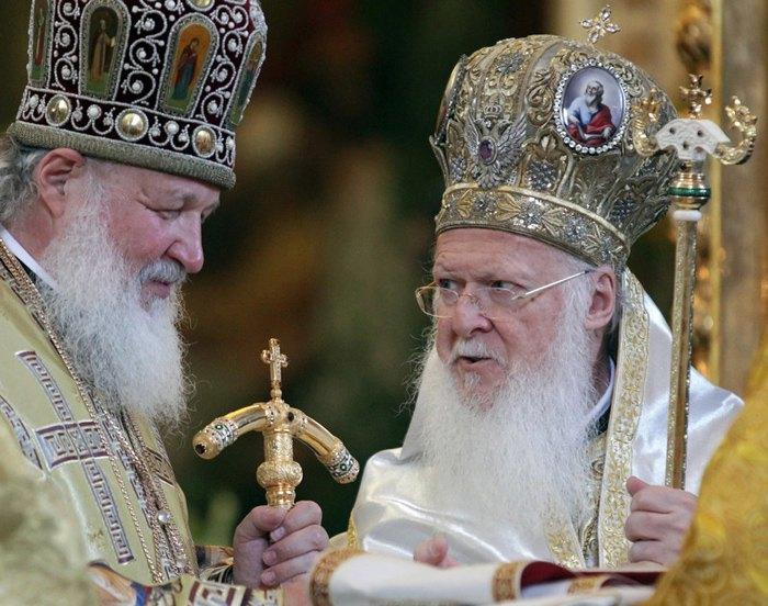 Вселенський патріарх Варфоломій та глава РПЦ Патріарх Кирил