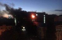 Пожар вспыхнул в Киевском институте пищевых технологий (обновлено)