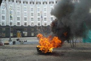 """У Кабмина задержали поджигателя шин на митинге вкладчиков """"Дельта Банка"""""""