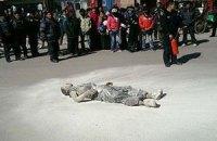 У Китаї буддистський монах здійснив самоспалення