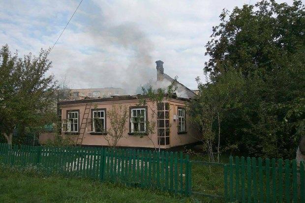 Разрушенный дом в Калиновке