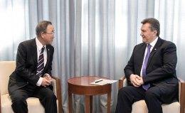 Янукович у Сочі зустрівся з Пан Гі Муном