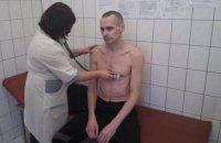 Российский омбудсмен заявил, что состояние Сенцова удовлетворительное, он под постоянным наблюдением