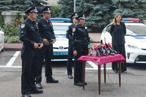 В Киеве состоялся первый выпуск патрульных полицейских