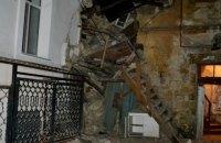 В центре Одессы обрушилась часть жилого дома