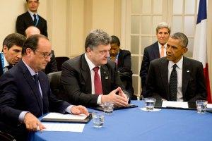 Санкції проти Росії можна скасувати у разі прогресу в деескалації, - Олланд