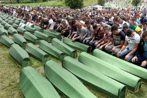 Похороны жертв резни в Сребренице