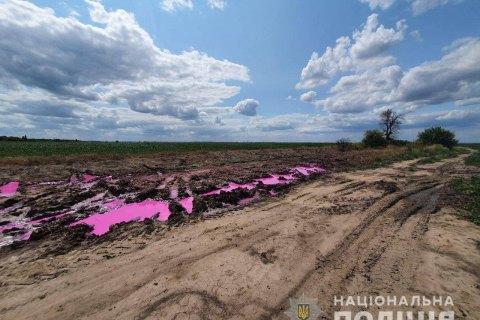 Полиция открыла уголовное производство по поводу розовых луж возле Ровно