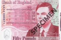 Банк Англії показав нові 50 фунтів з портретом Алана Тьюринга