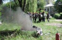 Спасатели потушили пожар возле киевской телевышки (добавлен фоторепортаж)