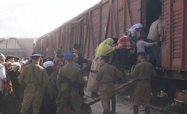 Кадр из фильма Хайтарма о депортации крымских татар