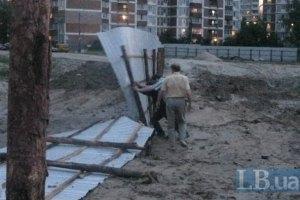 Кияни намагаються захистити дитячий майданчик від підземного паркінгу