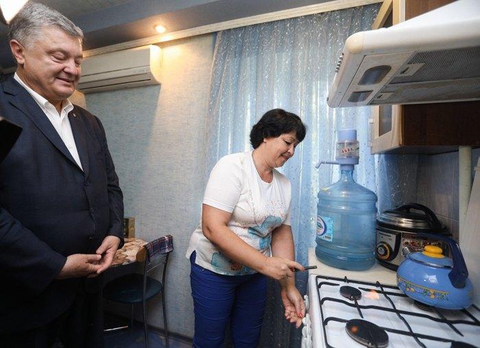 Президент Петр Порошенко во время рабочего визита в Донецкую область