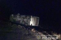 В Донецкой области перевернулся автобус с 50 пассажирами