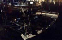 Під Одесою згоріла яхта місцевого депутата