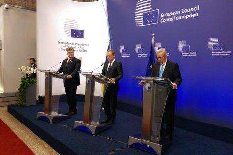 Порошенко пообещал ЕС урегулировать политический кризис до конца месяца