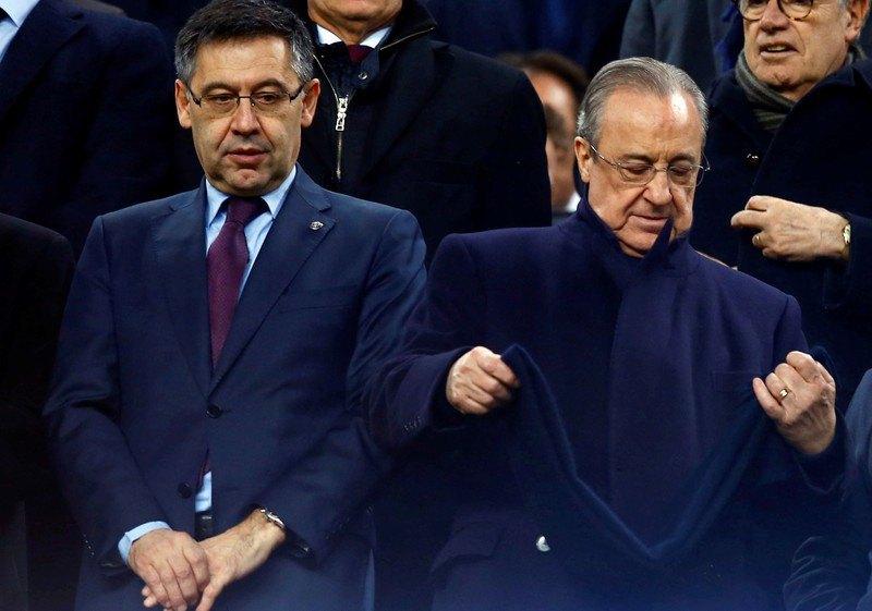 "Два президента:Флорентино Перес (""Реал"" - справа) и Хосеп Бартомеу"