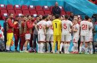 Прямо во время матча Евро-2020 игроку сборной Северной Македонии устроили чемпионский коридор
