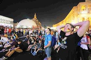 Киевскую фан-зону посетили 100 тысяч болельщиков