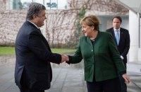 Порошенко встретится с Меркель в Брюсселе