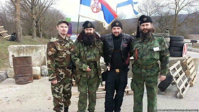 Сербські четники в Криму під час окупації полуострова Росією