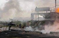 Пожар на территории нефтебазы в Николаевской области погасили (обновлено)