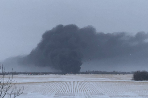 У Канаді з рейок зійшов поїзд, що перевозив нафту