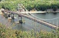 Пешеходный мост на Труханов остров закроют на ремонт
