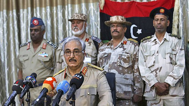 Libyan National Army commander Khalifa Haftar