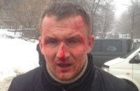 Ukrainian MP beaten at protest site in Kyiv