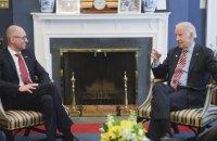 US ready to aid Ukraine in judicial reform - Yatsenyuk