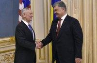 Poroshenko, Mattis discuss defensive weapons for Ukraine