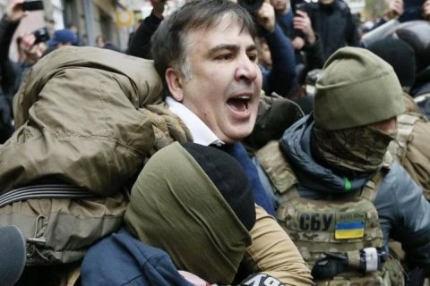 Saakashvili detained in Kyiv