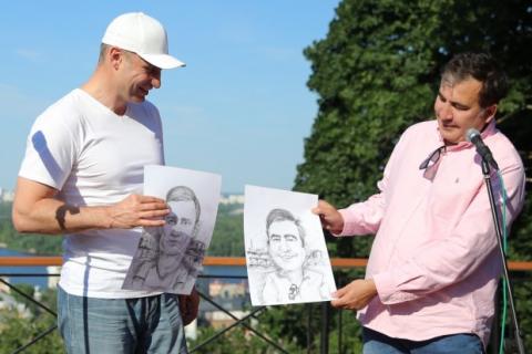 Klitschko offers Saakashvili to head UDAR