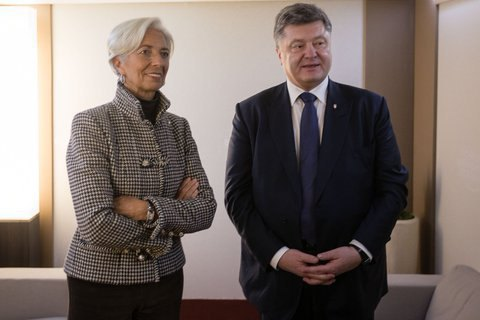 Poroshenko, Lagarde called on Rada to create Anti-Corruption Court by yearend