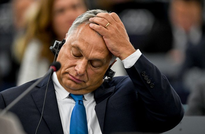 Hungarian Prime Minister Viktor Orban at the EP plenary session in Strasbourg, 11 September 2018
