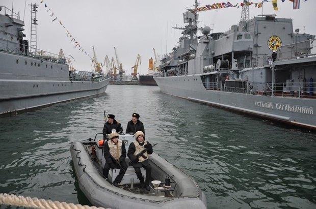Naval fleet in Odesa