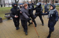 Belarusian police clamp down on Day of Freedom rally