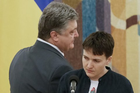 Ukrainian president disapproves of Savchenko's talks with militants