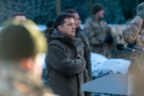 "Zelenskyy says army ""guarantee of diplomatic efforts"" on Donbas"