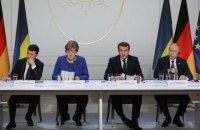 Four leaders issue joint communique after Paris talks on Donbas