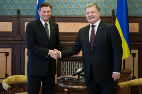 Slovenian president comes to Ukraine after meeting Merkel, Putin