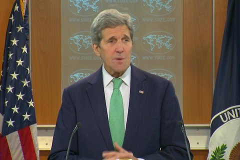President calls Kerry's visit evidence of US support