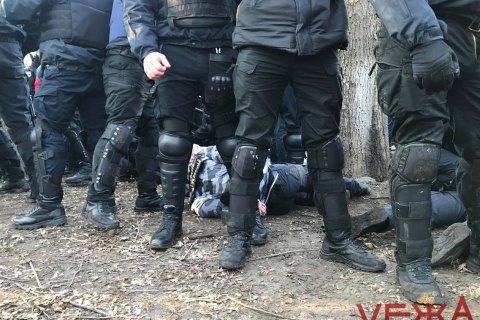 National Militia, police clash in Vinnytsya