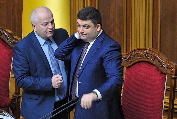 Volodymyr Groysman and Stepan Kubiv