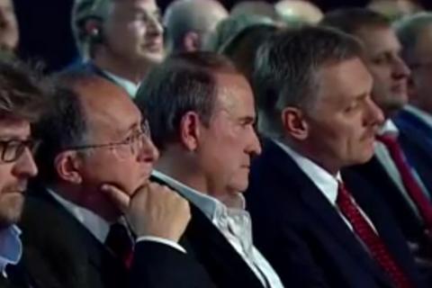 Medvedchuk takes front-row seat at Putin's Sochi forum