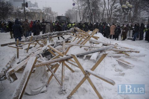 Protesters detained, grenades seized in Kyiv tent camp - police