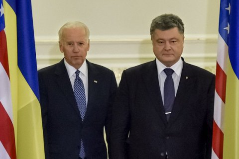 Poroshenko, Biden discuss Crimea events