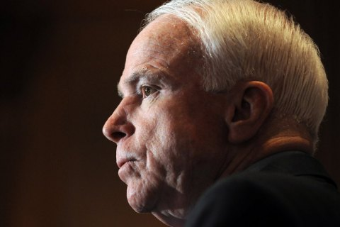 President, People's Front want street in Kyiv named after McCain