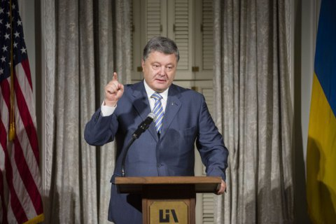 Poroshenko in USA to discuss sanctions on Russia, arms supply
